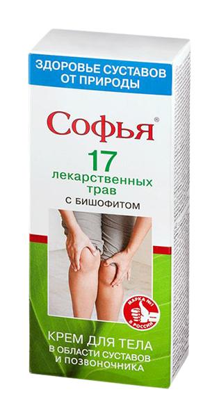 Софья бишофит крем для тела 17 лекарственных трав 75мл, фото №1
