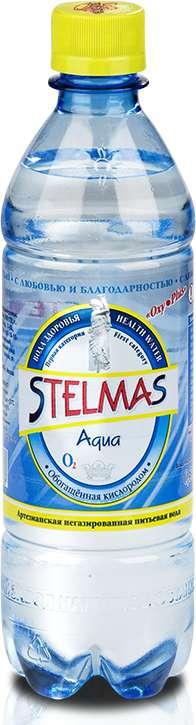 Стэлмас o2 вода питьевая негазированная 0,5л, фото №1