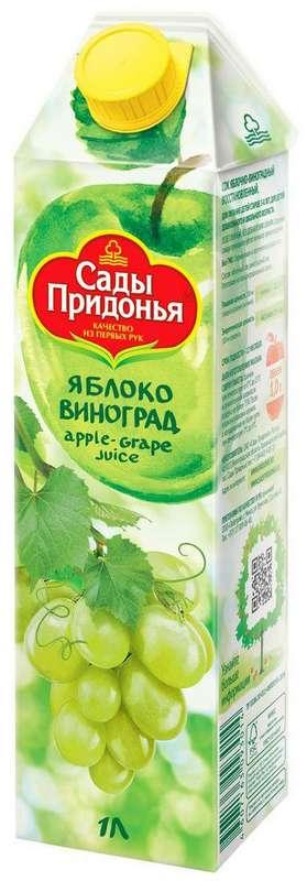 Сады придонья сок яблоко/виноград 1л, фото №1