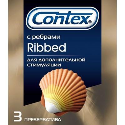 Контекс презервативы риббед 3 шт., фото №1