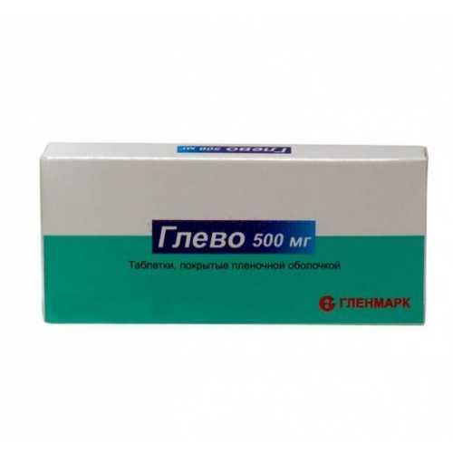 Глево 500мг 10 шт. таблетки покрытые пленочной оболочкой, фото №1