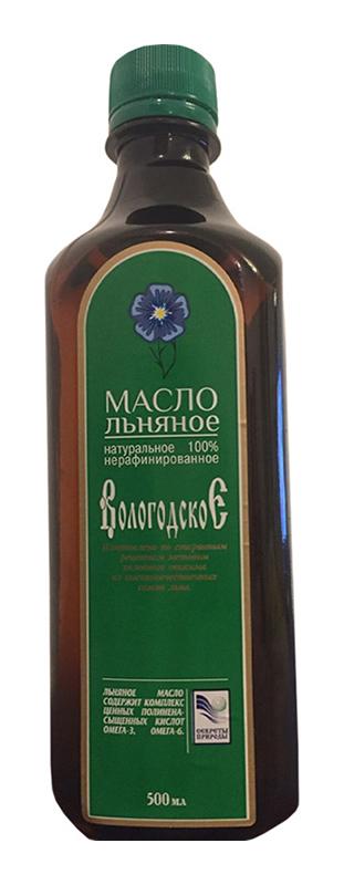 Масло льняное вологодское 500мл, фото №1