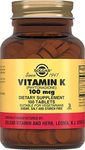 Солгар витамин к таблетки 100мкг 100 шт., фото №1