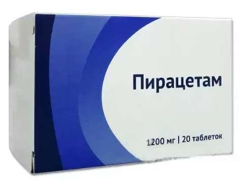 Пирацетам 1200мг 20 шт. таблетки покрытые пленочной оболочкой, фото №1