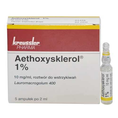 ЭТОКСИСКЛЕРОЛ раствор для внутривенного введения 1 % 5 шт.