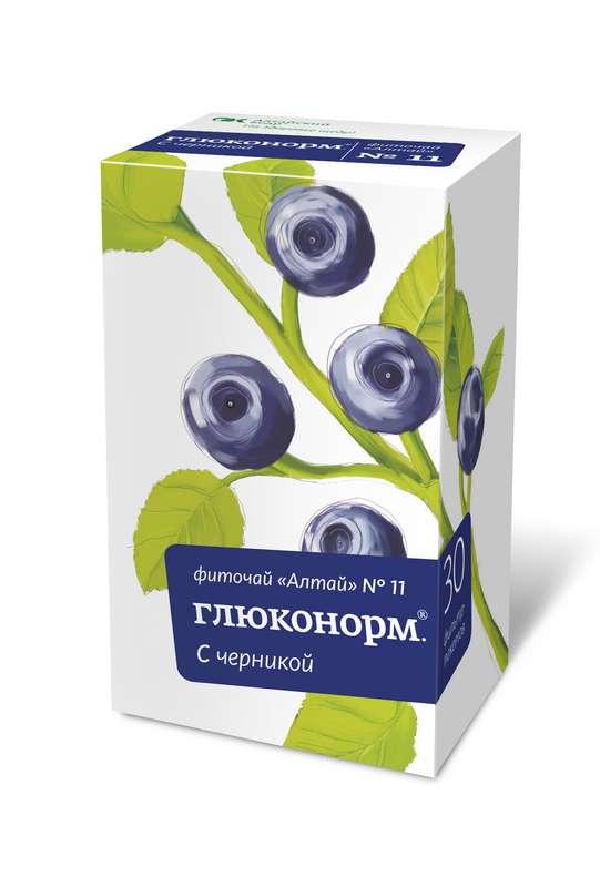 ФИТОЧАЙ АЛТАЙ N11 глюконорм черника N30 фильтр-пакет