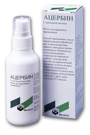 Ацербин 80мл раствор для наружного применения, фото №1