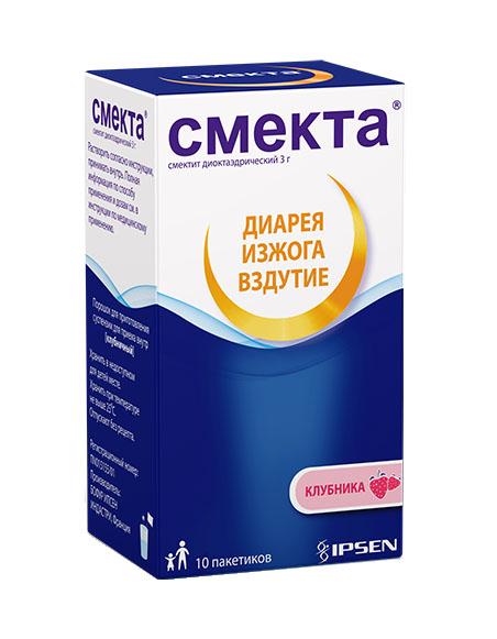 СМЕКТА порошок для приготовления суспензии для приема внутрь 3 г 10 шт..