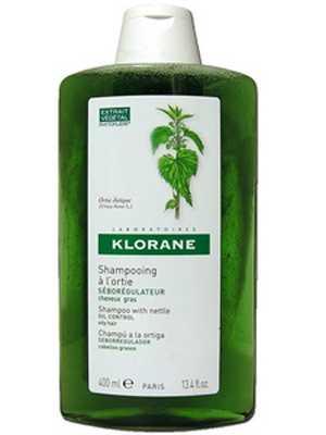 Клоран шампунь для жирных волос себорегулирующий с крапивой 400мл, фото №1