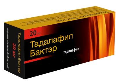 Тадалафил бактэр 20мг 1 шт. таблетки покрытые пленочной оболочкой, фото №1