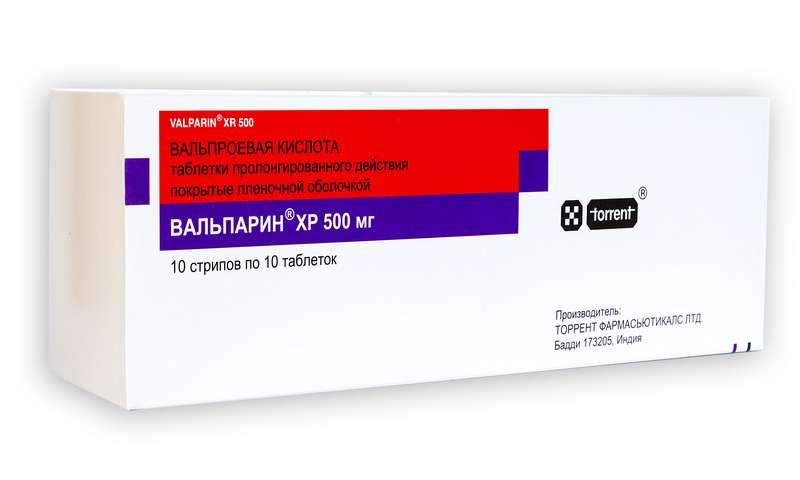 ВАЛЬПАРИН ХР таблетки 500 мг 100 шт.