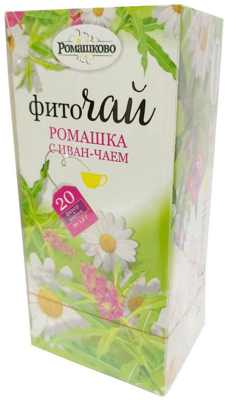 РОМАШКОВО фиточай Ромашка с иван-чаем 1,2г 20 шт. фильтр-пакет