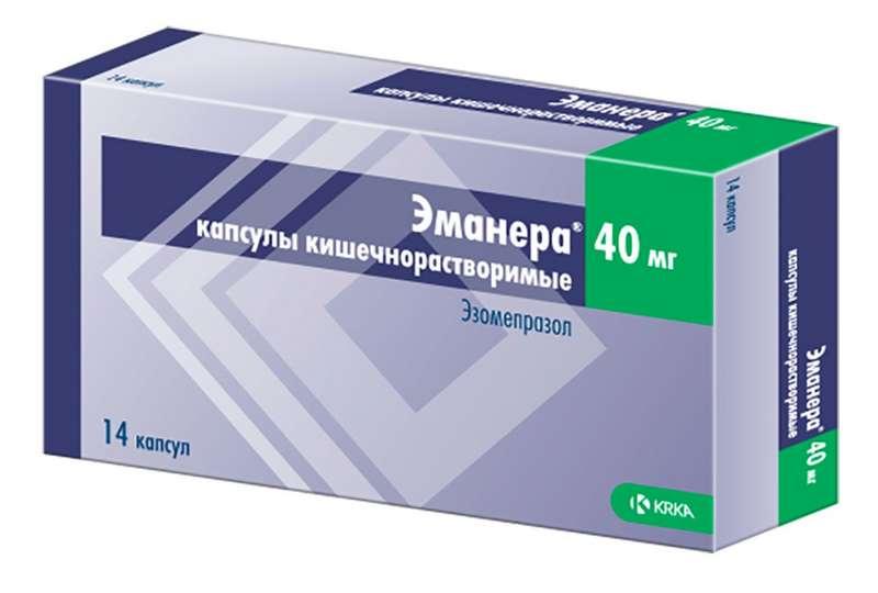 ЭМАНЕРА капсулы кишечнорастворимые 40 мг 14 шт.