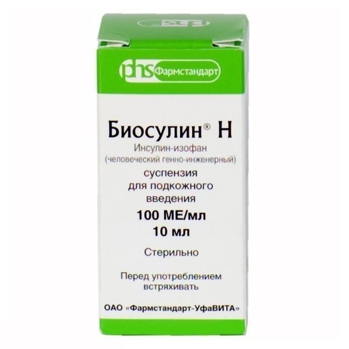БИОСУЛИН Н суспензия для подкожного введения 100 ЕД/мл 1 шт.
