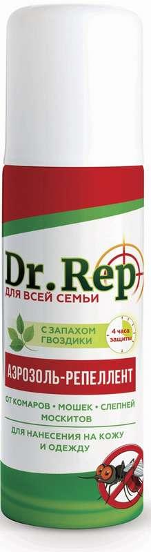 Доктор реп аэрозоль-репеллент от комаров и мошек 150мл, фото №1