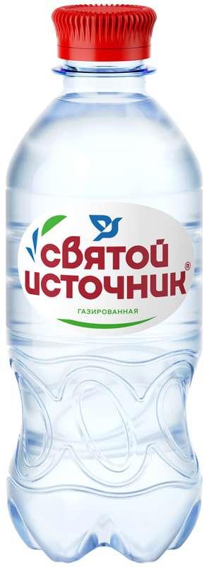 Святой источник вода питьевая газ пэт 0,33л, фото №1