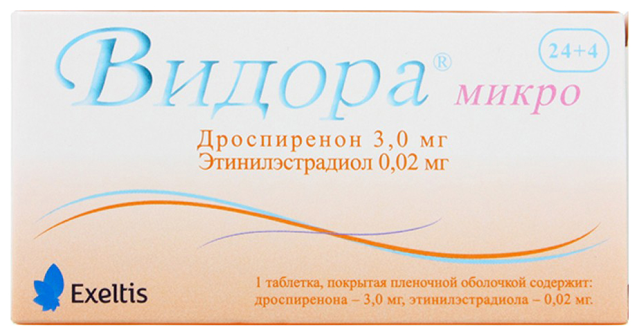 ВИДОРА МИКРО таблетки 24+4 шт.