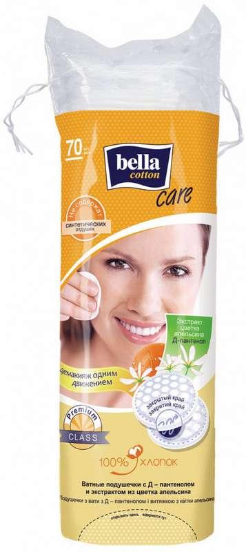 Белла коттон кеа ватные диски апельсин/д-пантенол 70 шт., фото №1