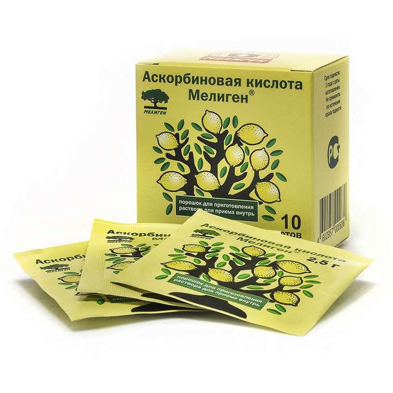 АСКОРБИНОВАЯ КИСЛОТА 2,5г 10 шт. порошок для приготовления раствора для приема внутрь (ЛС)