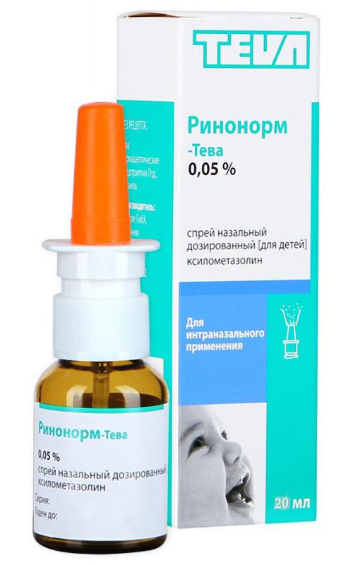 Ринонорм-тева 0,05% 20мл спрей назальный дозированный для детей, фото №1