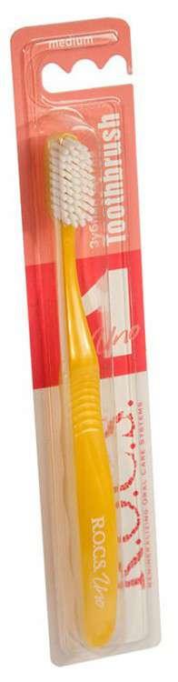 Рокс уно зубная щетка классическая средняя, фото №1