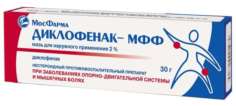 ДИКЛОФЕНАК 2% 30г мазь для наружного применения
