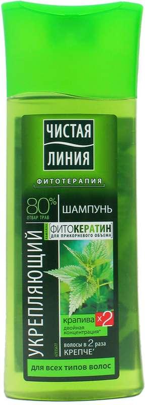 Чистая линия шампунь укрепляющий для всех типов волос крапива 250мл, фото №1