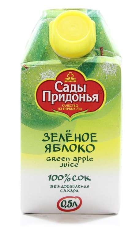 Сады придонья сок зеленое яблоко 500мл, фото №1