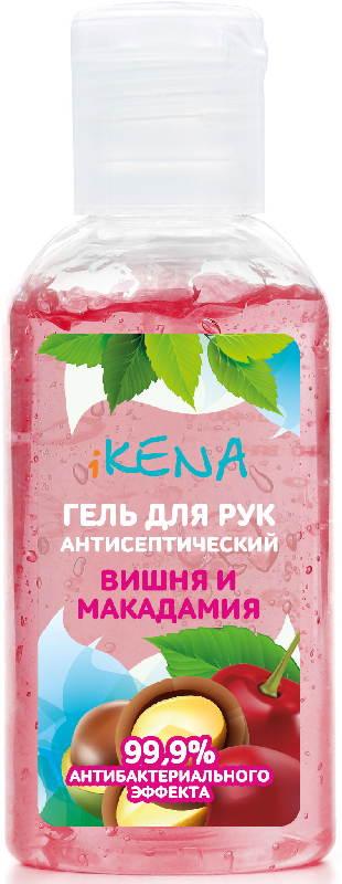 Икена гель для рук антибактериальный вишня/макадамия 60мл, фото №1