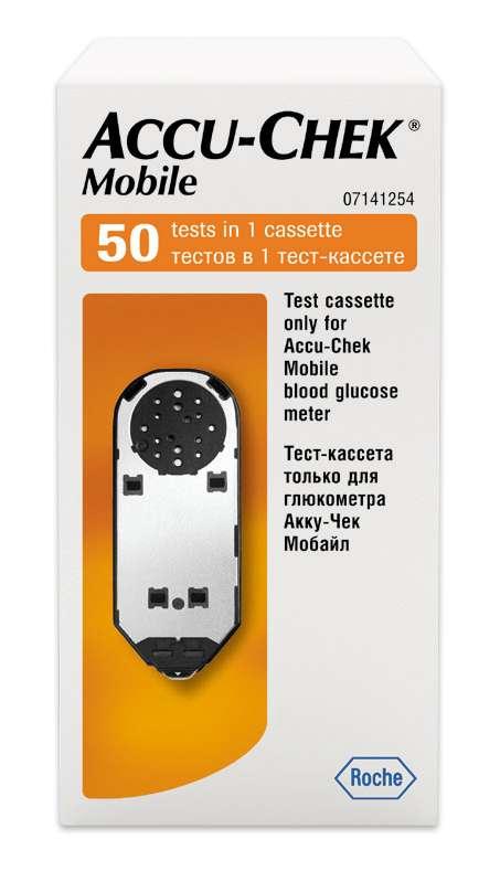 Тест-кассета акку-чек мобайл №50, фото №1