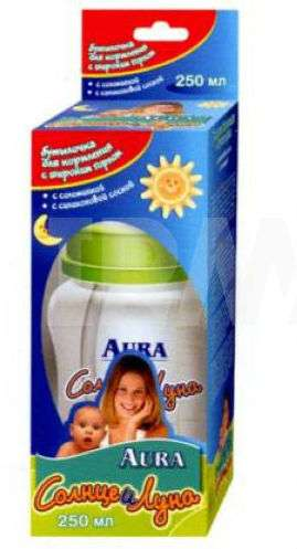 Аура солнце и луна бутылочка для кормления с соломинкой 250мл, фото №1