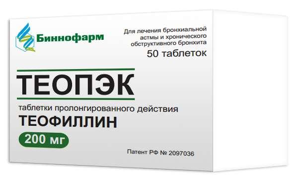 ТЕОПЭК таблетки 200 мг 50 шт.