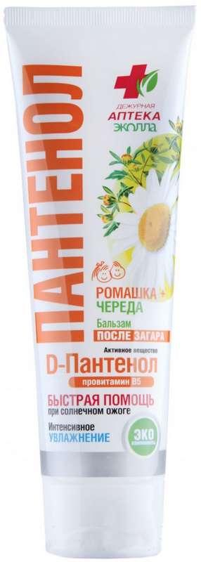Дежурная аптека пантенол бальзам после загара ромашка/череда 90мл, фото №1