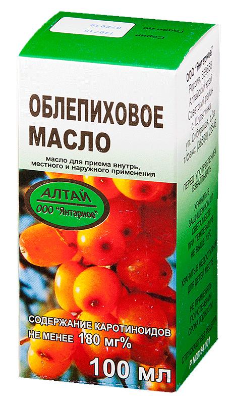 Облепиховое масло 100мл для приема внутрь, местного и наружного применения, фото №1