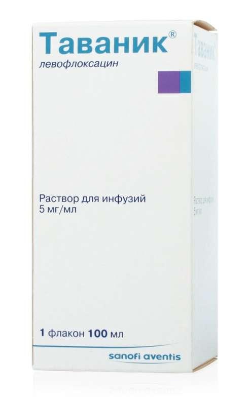 Таваник 5мг/мл 100мл раствор для инфузий, фото №1