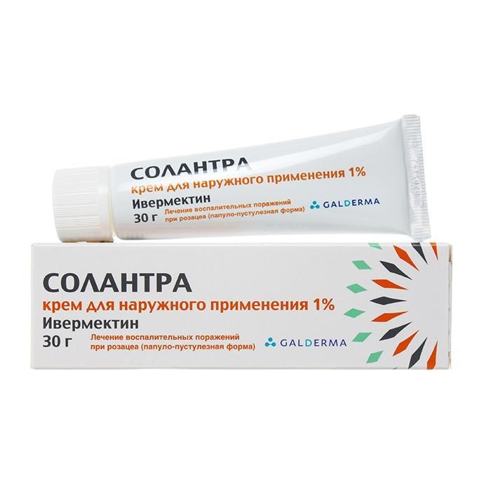 Солантра крем для наружного применения 1% 30 г;