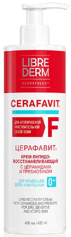 Либридерм церафавит крем для лица/тела липидовосстанавливающий с церамидами и пребиотиком 0+ 400мл, фото №1