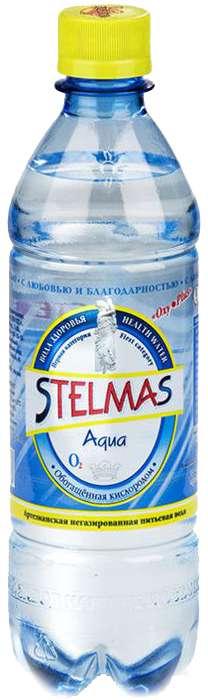 Стэлмас вода питьевая газированная 0,6л бутылка пэт., фото №1