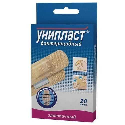 Унипласт пластырь бактерицидный эластичный 20 шт., фото №1