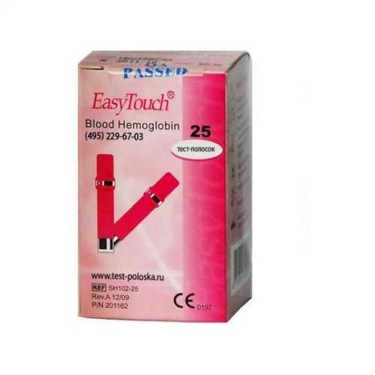 Изи тач тест-полоски гемоглобин 25 шт., фото №1