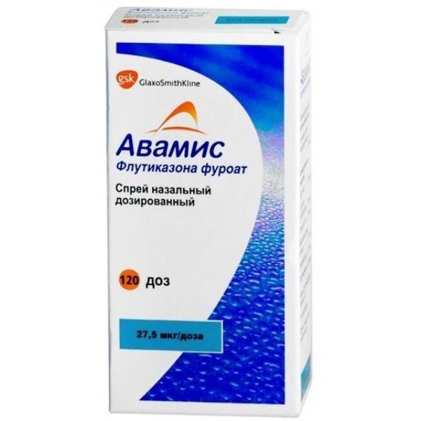 АВАМИС 27,5мкг/доза 120доз спрей назальный Glaxo Operations UK Limited