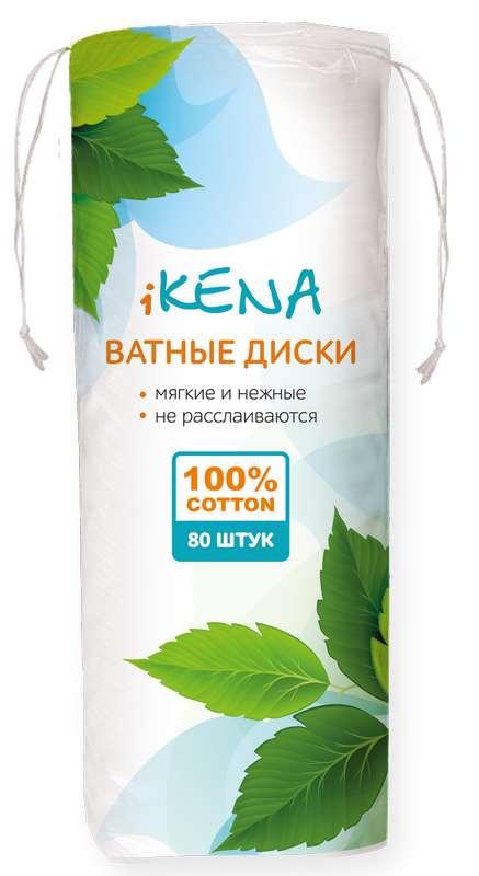 Икена ватные диски косметические 80 шт., фото №1