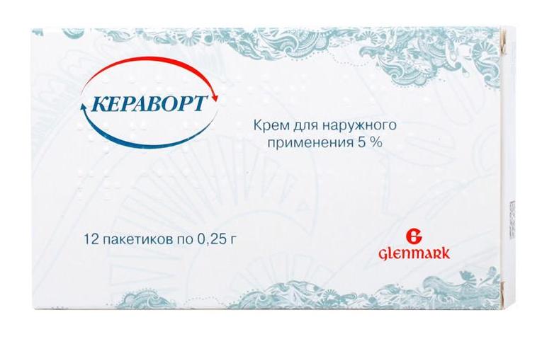 КЕРАВОРТ 5% 0,25г 12 шт. крем