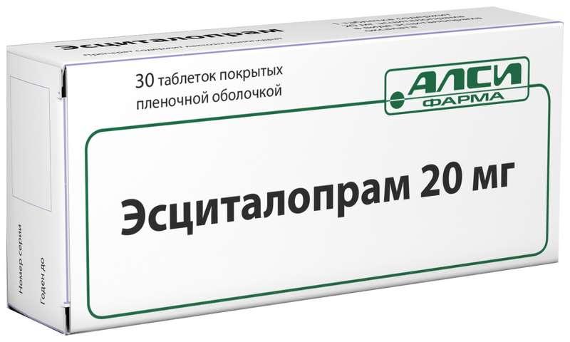 ЭСЦИТАЛОПРАМ таблетки 20 мг 30 шт.