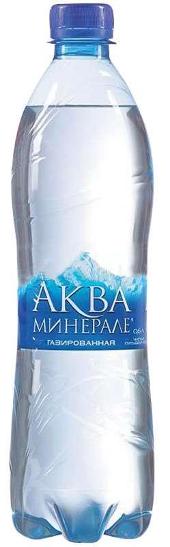Аква минерале вода питьевая газированная 0,6л, фото №1