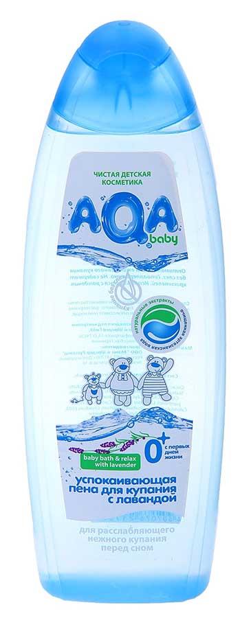 Аква бэби пена для купания успокаивающая с лавандой 500мл, фото №1