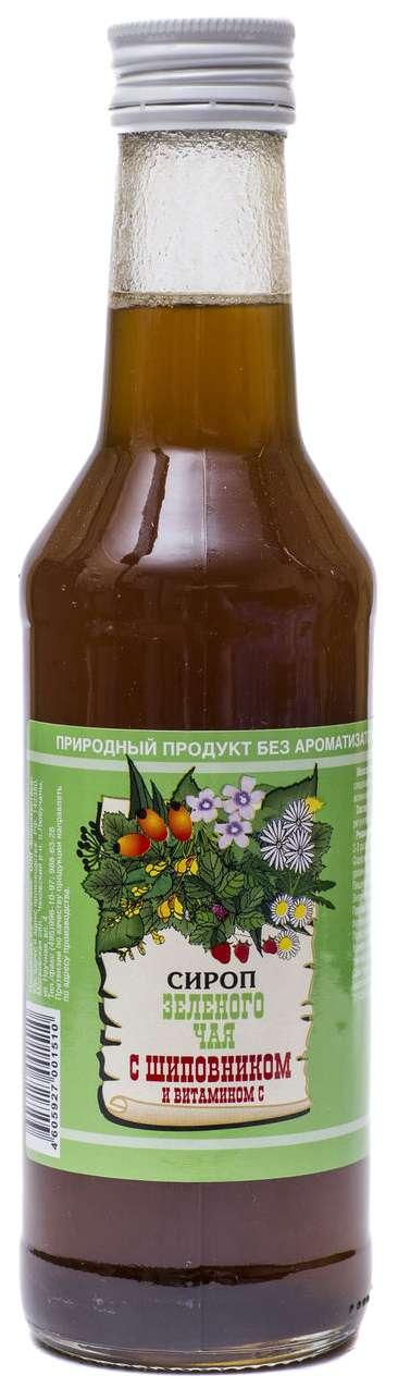 Зеленый чай с шиповником и витамином с сироп 250мл, фото №1