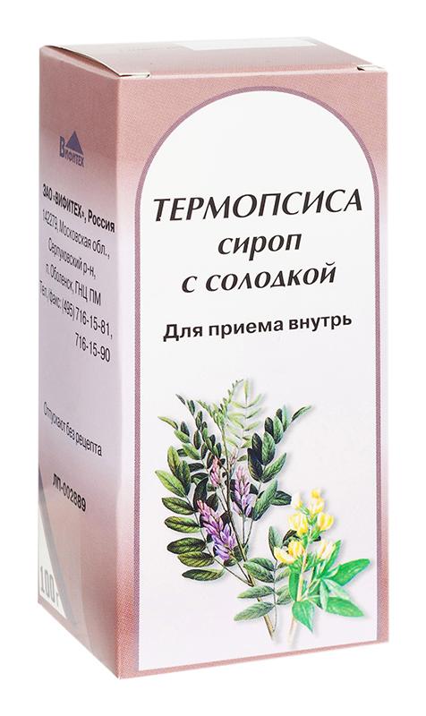 Термопсис 100г сироп с солодкой, фото №1