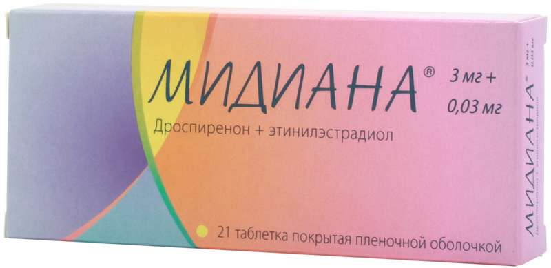 Мидиана таблетки 21 шт.;
