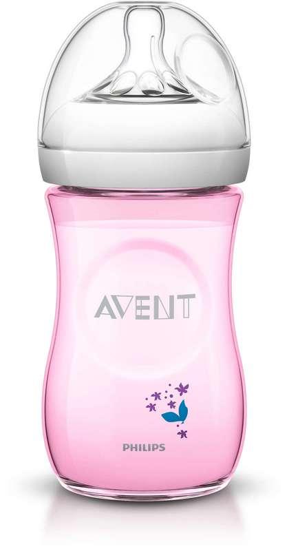 Авент натурель бутылочка для кормления медленный поток с 1 месяцев (scf620/17) / (scf033/17) 260мл, фото №1